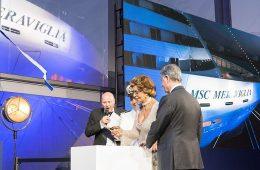 MSC Meraviglia mother-Sophia-Loren-cuts-the-ribbon-with-MSC-Group-Executive-Chairman-Gianluigi-Aponte