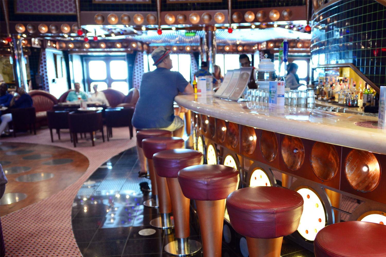 man at the bar on a cruise ship