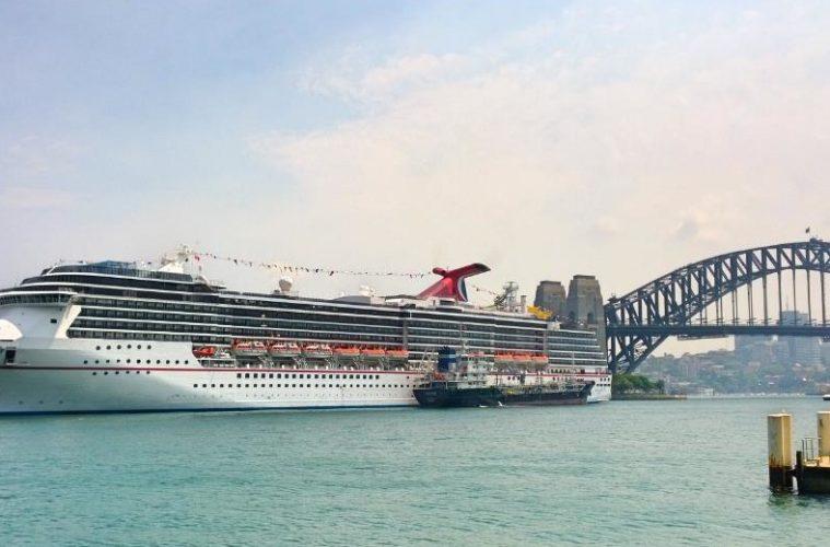 Carnival ship in Sydney